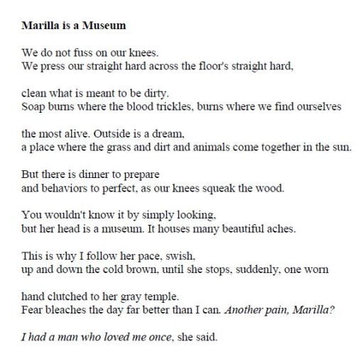 April Michelle Bratten - Marilla Is a Museum p16